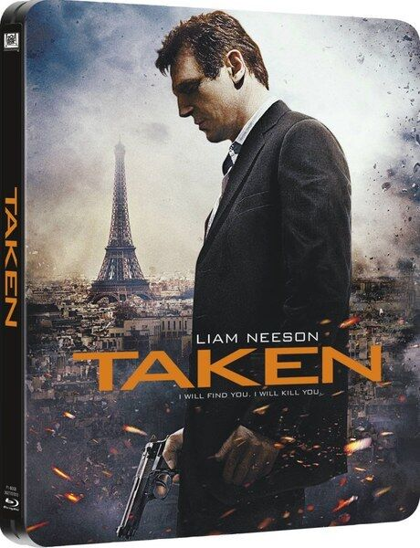 TAKEN Limited Edition Steelbook Bluray UK Exclusive Region B NEW SEALED