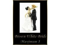 1 Interchangeable Brown Haired White Bride Wedding Cake Topper Decoration Fab Keep Sake