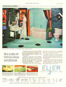 Large 1954 full-page ad for Eljer Plumbing Fixtures