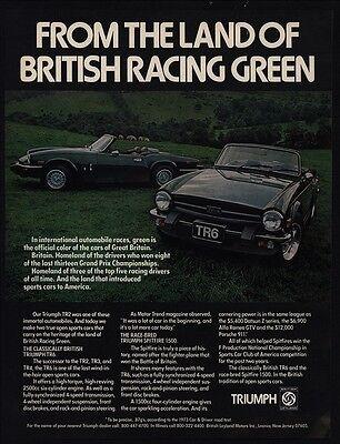 1975 TRIUMPH TR6 SPITFIRE 1500 British Racing Green Convertible Car VINTAGE (Triumph Tr6 Racing)
