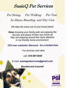 BOOK NOW!!!   SUSIEQ PET SERVICES