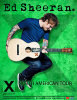 2 Tickets, Ed Sheeran, Canadian Tire Ctr, Wed June 3, $75 each