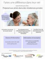 Préposé aux bénéficiaires dans les résidences privées pour aînés