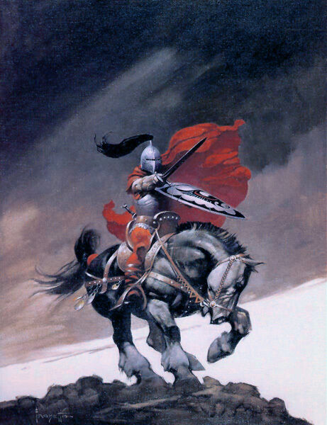 """Authentic Frank Frazetta Print """"OUTLAW OF TORN"""" #95  13 X 19"""""""