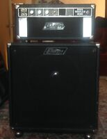 """Vintage Earth Sound Research bt2000 bass amp with 15"""" cabinet."""