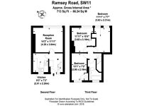 3/4 bed Maisonette close to the River and amenities of Battersea!!! Accepting part DSS and students