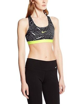 Nike Sports Bra Women's Pro Classic Best Training Workout Clothes Black Green