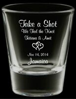 Printed Shot Glasses  (Wedding)