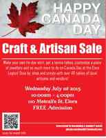 Canada Day Craft & Artisan Sale - Elora