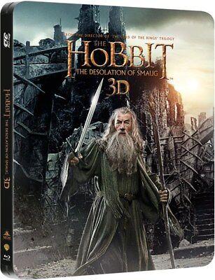 THE HOBBIT: DESOLATION OF SMAUG New 3D + 2D Blu-Ray STEELBOOK Region-Free