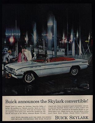 1962 BUICK SKYLARK Convertible Car - Boat Dock - VINTAGE -