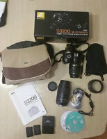 Nikon D3200 with 18-55mm and 55-300mm lenses