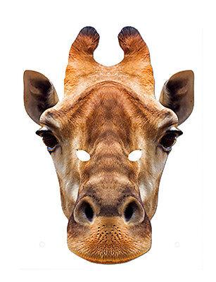 Giraffe Animal 2D Card Party Face Mask Fancy Dress Up Zoo Safari Theme - Safari Theme Dress Up