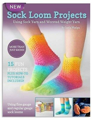 KB Sock Loom Projects Socks Mittens Slippers Board Instruction Book 15 Patterns