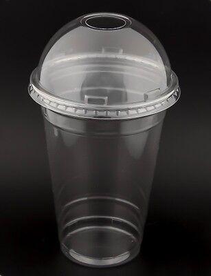 nklusive Domdeckel MIT Loch, 16 oz, Clearcups Cocktailbecher (Cups 16 Oz)