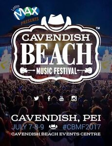2 general weekend passes for Cavendish Beach Music Festival 2017