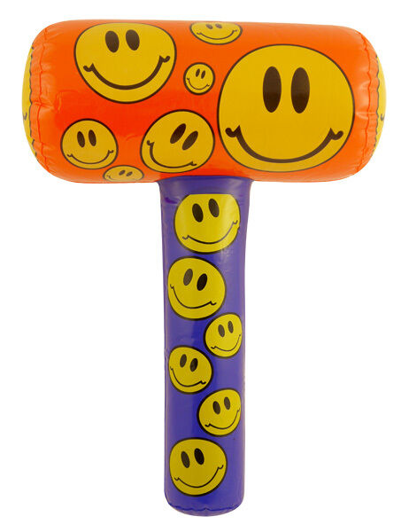 2 X INFLATABLE 48CM SMILEY FACE MALLET