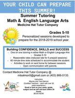 Math and English/LA Tutoring In Medicine Hat