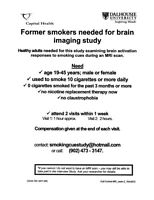 Former smokers aged 19-45: Research Study