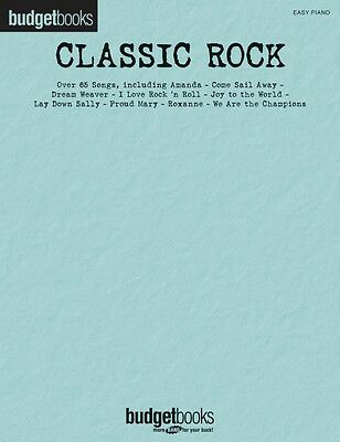 Classic Rock Sheet Music Budget Books Easy Piano SongBook NEW -