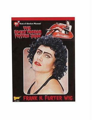 ROCKY HORROR FRANK N FURTER BLACK CURLY WIG COSTUME DRESS FM55025 - Frank N Furter Costume