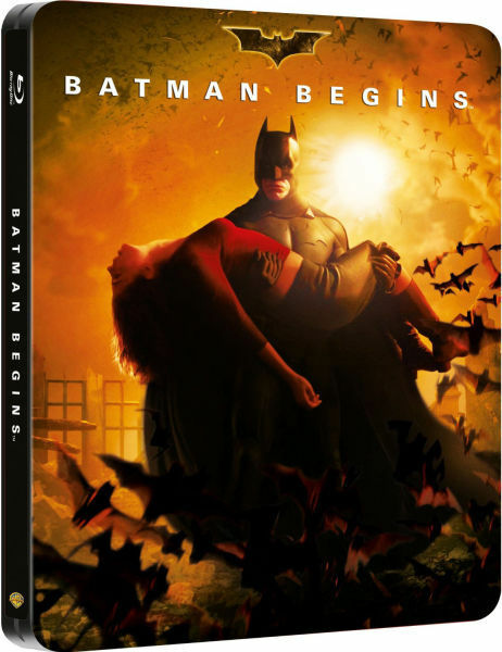 Batman Begins Blu ray Steelbook - 2 Disc Set ( NEW )