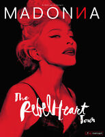 2 billets ROUGE Madonna Rebel Heart Tour Mercredi 9 sept.