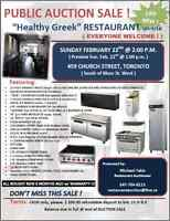 "PUBLIC AUCTION ""Healthy Greek"" Restaurant ON-SITE (6 MONTHS old)"