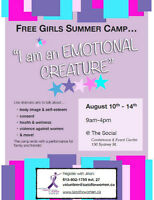 FREE 'Emotional Creature' Summer Camp for Girls