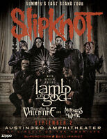 Slipknot/Lamb of God @ Molson Amp Aug.8th 2 HARDCOPY FLOORS/GEN
