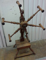 * Antique Solid Wood Yarn Spinner - Rare piece *