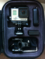 GoPro Hero 3+ Black (Plus batteries, memory cards, case, remote)