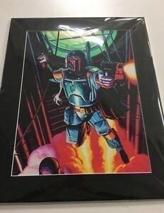 Boba fett art print w/matt border. Ready for framing Mornington Clarence Area Preview