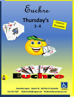 Euchre every Thursday in July