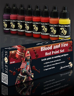 Scale 75 SCL-SSE-005 Scale Color- Blood and Fire Red Paint (Fire Paint Set)