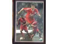 Signed Steven Gerrard Autograph.