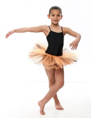 Tutu Tütü Ballett Trikot Kostüm Tüllrock Ballettkleid schwarz orange - Schwarz Trikot Kostüm