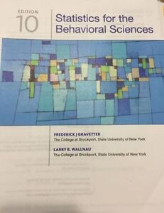 Statistics for the behavioral sciences buy or sell books in psyc 2020 statistics for the behavioral sciences 10th edition fandeluxe Choice Image