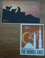 1980's Vintage & Rare Cultural Map of Middle East- LOOK!!!