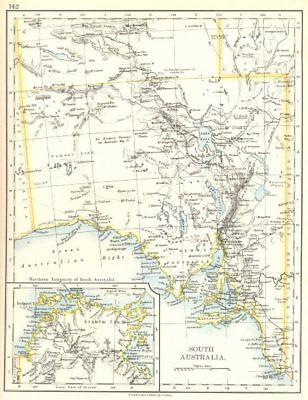 AUSTRALIA. South Australia; Inset maps of Arnhem land Northern Territory 1897