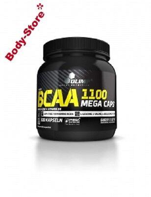 (60,21€/kg) Olimp BCAA Mega Caps 1100 mg 300 Stück Kapseln DOSE + PROBE 387g