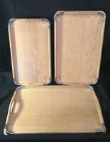 Wood Nesting Serving Trays Set - 3 trays