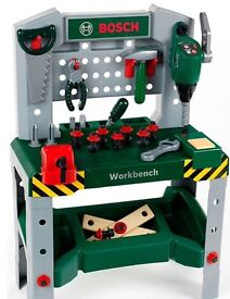 Elc Bosch workbench and tools. Age 3-8. Excellent condition. Rrp £60