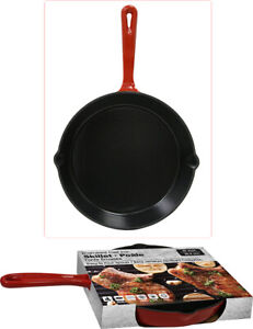 Enamel Cast Iron Skillet 10in