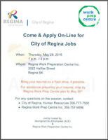 Come & Apply On-Line for City of Regina Jobs