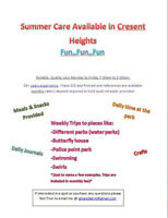 Summer Care Available (NE Cresent Heights)