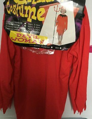 Clearance Halloween Costumes For Girls (HALLOWEEN COSTUMES REDUCED GIRLS CHILDRENS DEVIL WOMAN AGE 4-6 CLEARANCE)