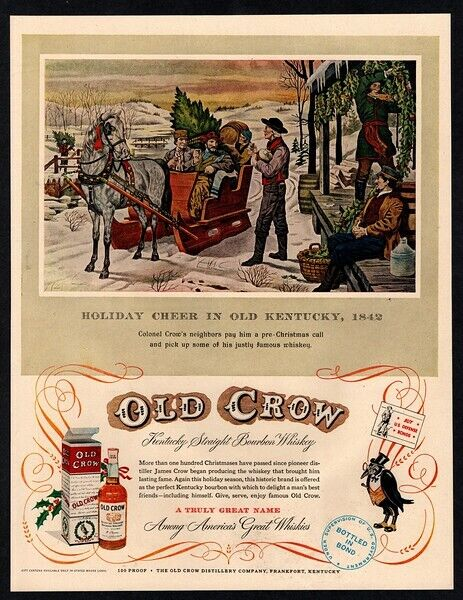 1952 OLD CROW Whiskey - Colonel Crow