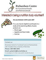 Nutrition Study Volunteers Wanted! (compensation provided)