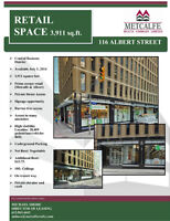 Beautiful ground floor retail space Downtown.